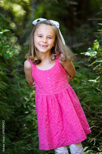 Poster Smiling Little Girl