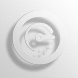 dashboard 3D Paper Icon Symbol Business Concept - 145195868