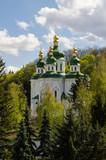 Kiev, Ukraine - April 15, 2017 - St. George's Cathedral in Vydubitsky Monastery