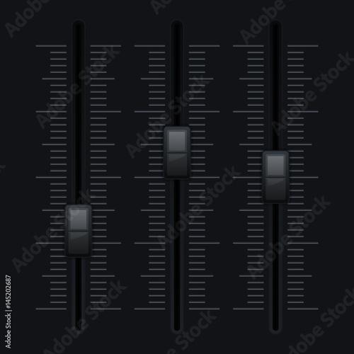 Black vertical slider bar