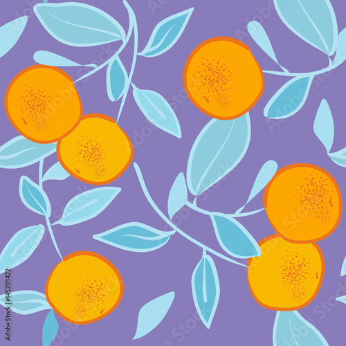 seamless pattern with orange - 145203422
