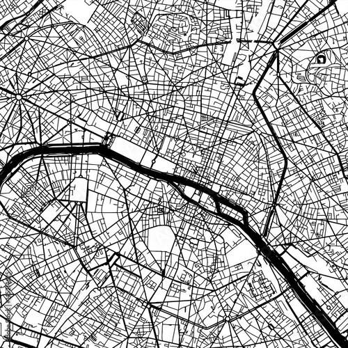Paris France Vector Map - 145214625