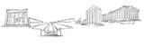 Athens Greece Panorama Sketch - 145216299