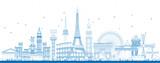 Outline Famous Landmarks in Europe. - 145230699