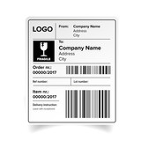 Shipping label template - 145236431