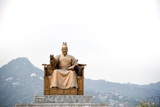 Statue of King Sejong at the Gwanghwamun square in Seoul