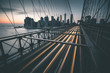 Traffic on Brooklyn Bridge - New York