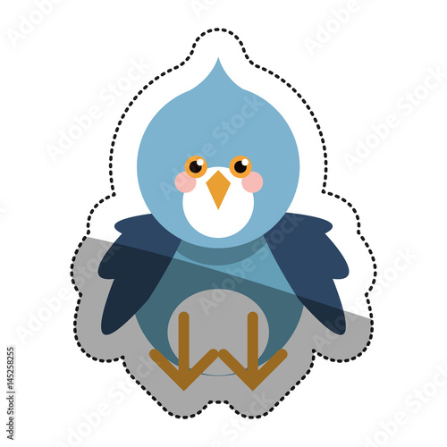 Bird cartoon icon. Animal cute adorable and creature theme. Isolated design. Vector illustration