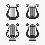 Greek Harp Symbol Vector Illustration - 145263402
