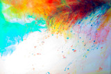 Abstraction from multi-colored ink, paint in water