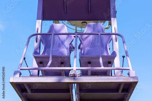 Free seats in the ferris wheel in the sky
