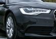 headlight of prestigious car close up