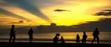Sunset at Kuta Beach.