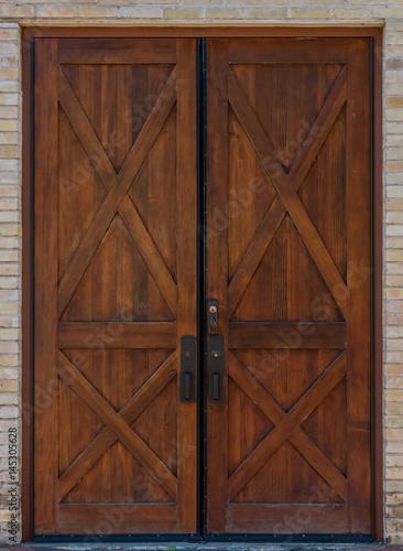 Rustic Double Wooden Door