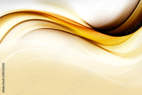 Gold modern bright waves art. Blurred pattern effect background. Abstract creative graphic template. Decorative business style.Design trendy element for card, website, wallpaper, presentation.