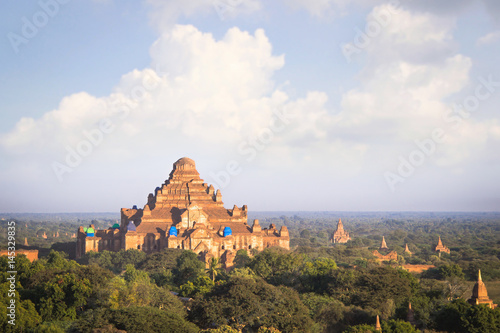 Poster Earthquake affected to temple in Bagan Myanmar, to be renovate
