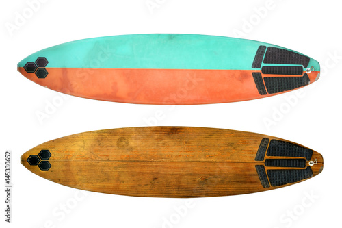 Vintage surfboard isolated on white - Retro styles 60's Poster