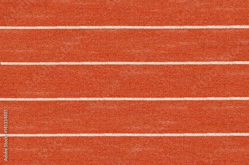 Foto op Canvas Baksteen Running track in top view.