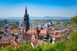 Leinwanddruck Bild - cathedral in Freiburg
