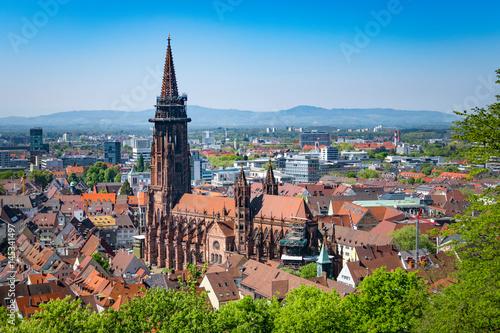 Leinwanddruck Bild cathedral in Freiburg