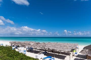 Karibische Strand Szene in Cayo Santa Maria Kuba