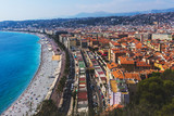 A panoramic view of the city of Nice, France. Picture taken September 2016