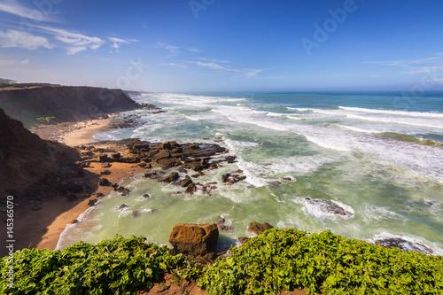 Papiers peints Maroc Stormy Atlantic coast near Rabat-Sale, Morocco