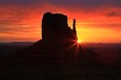 Beautiful sunrise over Monument Valley, Arizona, USA