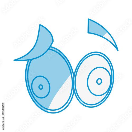 Cartoon eyes expression icon vector illustration graphic design