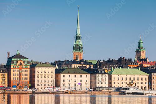 Fotobehang Stockholm Gamla Stan city in central Stockholm