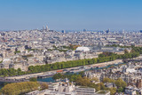 View from Eiffel Tower over river Sein