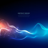 abstract technology background with light effect - 145413059