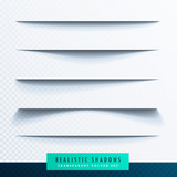 realistic transparent paper shadow effect set - 145414867