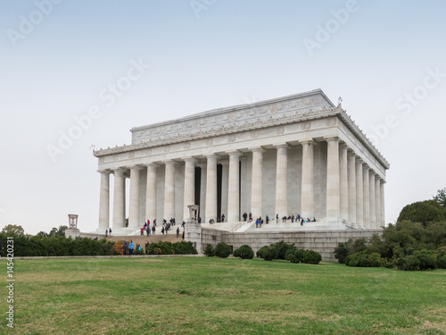 Lincoln Memorial in Washington плакат
