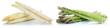 canvas print picture - Weißer weisser und grüner Spargel weiss weiß grün frisch Gemüse Freisteller freigestellt isoliert