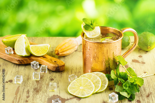 Summer mojito cocktail