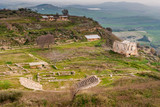 Panoramic view of the ancient greek city of Morgantina, in Sicily - 145425032