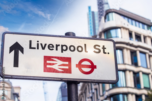 Liverpool St. street sign