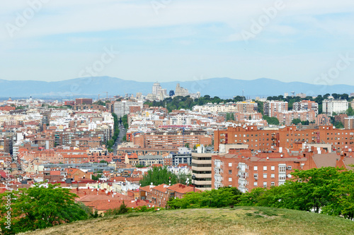 View of the city of Madrid from Vallecas