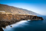 Coastal landscape - La Palma, Puerto de Naos, Canary Islands, long exposure