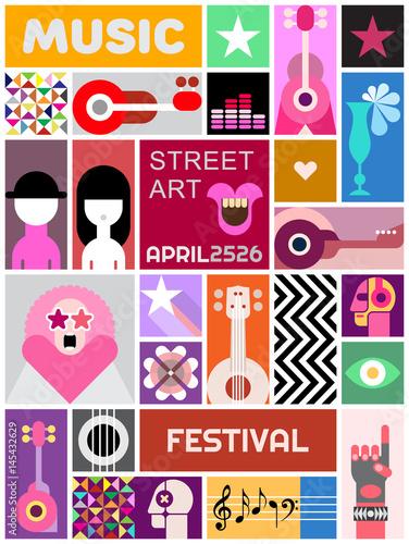 Foto op Plexiglas Abstractie Art Street Art Poster Template Design