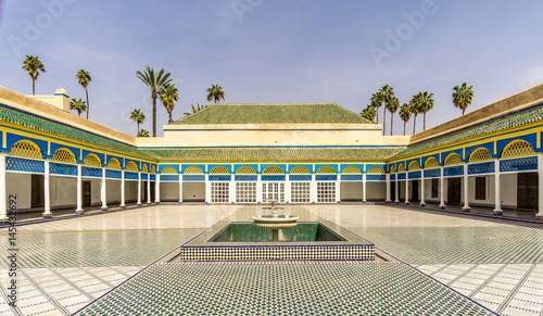 Papiers peints Maroc Courtyard of the Bahia palace in Marrakesh - Morocco