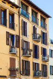 apartment house in Verona city in spring