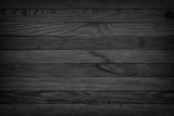 black background aged wood texture seamless background, dark wooden table - 145456063