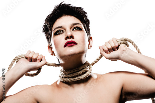 Girl With Short Hair And Rope Buy Photos Ap Images Detailview