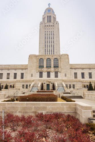 Lincoln, Nebraska - State Capitol Building плакат
