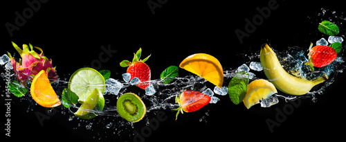 Fruits with water splash - 145460098