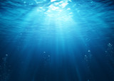 Underwater Scene With Bubbles And Sunbeams - 145463282