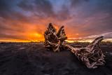 Sunrise at Hokitika on the West Coast of New Zealand's South Island.