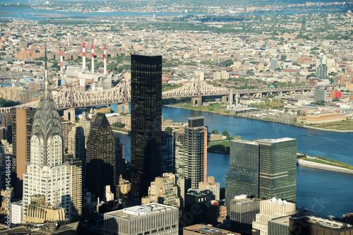 aerial view of New York skyline office buildings